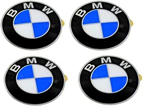 BMW Wheel Center Cap Emblems (4) OEM 64.5mm E46 E60 E90 E92; 36136767550