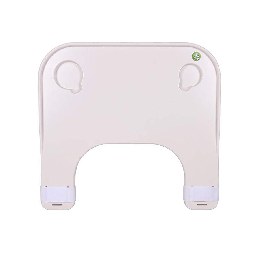 暴露する神秘的な対称DHGK 車椅子用テーブル 取り付け簡単 取り外し簡単 カップ溝付 読書 食事 障害者 高齢者 汎用 マジックテープ固定