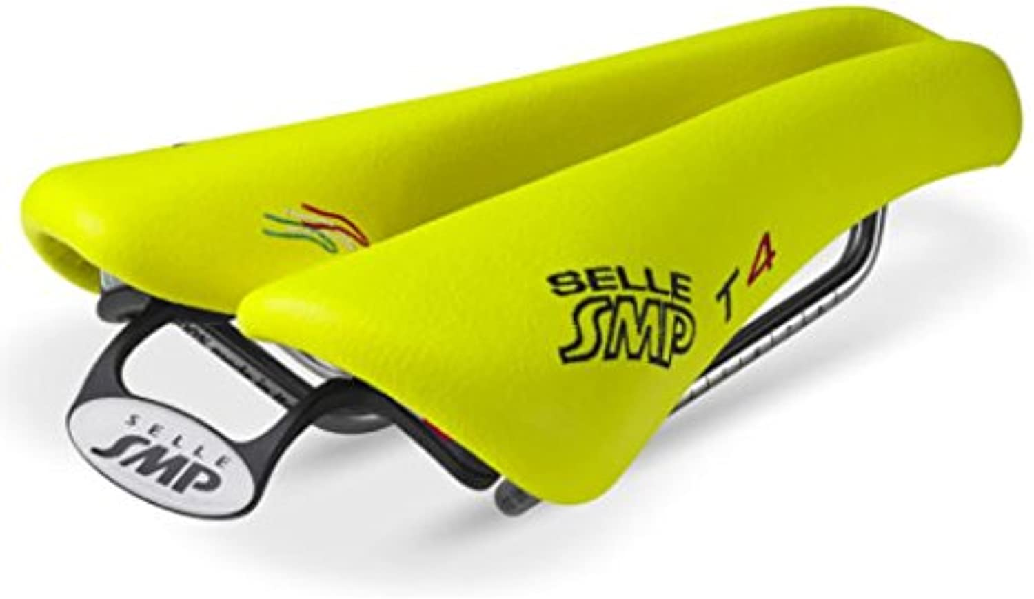 NEW Selle SMP TRIATHLON Bicycle Saddle Seat  T4 Fluorescent Yellow. . . Made in
