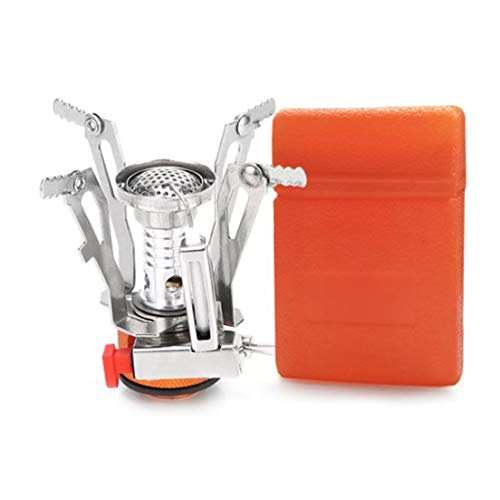 Balepha Portable Outdoor Ultralight Backpacking Stove Camping Stove Burner, Small Mini Hiking Camp Stove with Piezo Ignition, A Cool Survival Kit Gear for Emergency, Hurricane, Earthquake
