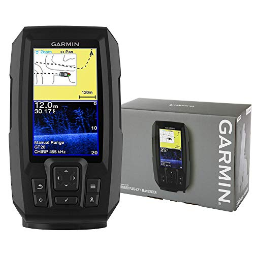 Garmin 0753759184193 Striker Plus - Localizador de Peces Striker Plus 4cv Chirp, Color Negro, Talla única