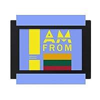 私はリトアニアから デスクトップフォトフレーム画像ブラックは、芸術絵画7 x 9インチ