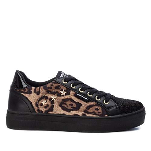 Refresh 69344, Zapatillas para Mujer, Negro Leopardo, 40 EU