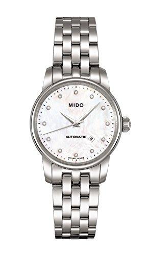 Mido M76004691 - Orologio da polso da donna, cinturino in acciaio inox colore argento