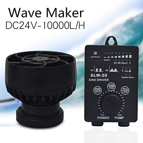 XD7 Jebao SLW-20 - Pompa di flusso per acquario, 24 V/20 W, Wave Maker Wave Pump, pompa di flusso dell'acqua, flusso massimo della pompa 10000 l/h, IPX8, impermeabile