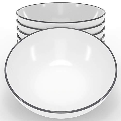 Pure Living - Juego de 6 cuencos para cereales, diseño escandinavo, juego de cuencos de cerámica aptos para lavavajillas, ideal como cuenco para sopa, cuenco de cereales, elegante juego de vajilla
