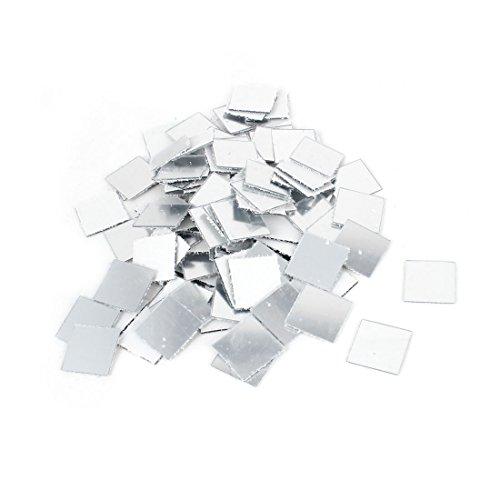 sourcingmap 3D Adesivo Da Parete Specchio A Mosaico Soggiorno Decorazioni Adesive 2cmx2cm 100pz