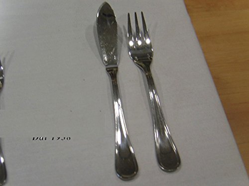 Sambonet Contour Set x 6 Couteau Poisson et 6 fourchettes Poisson