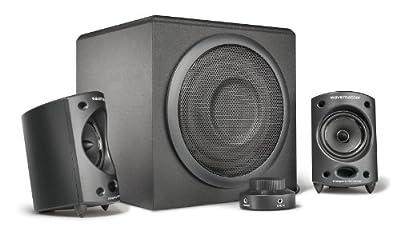 wavemaster MOODY - 2.1 Stereo Speaker System/Set (65 Watt) for TV, gaming, smartphone, PC, tablet / UK version (66207) from wavemaster