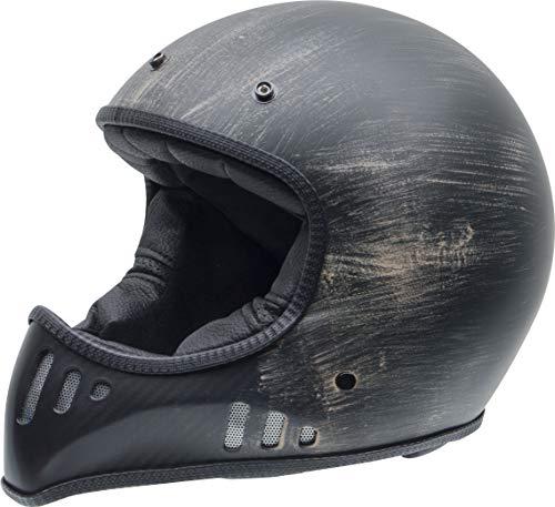 NZI MAD Carbon Casque de Moto, Oxydé noir mat, Taille Moyen