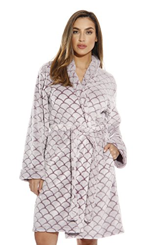 Just Love Printed Plush Robe for Women