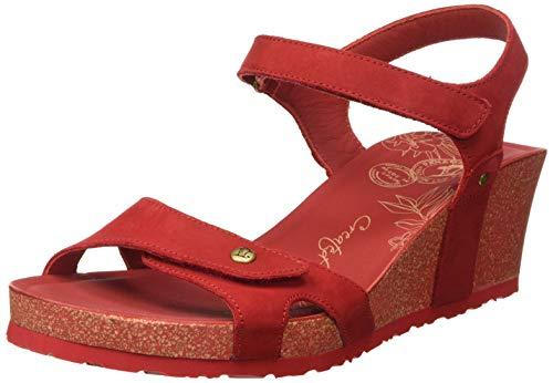 Panama Jack Julia Basics, Sandalia con Pulsera para Mujer, Rojo (Rojo B16), 38 EU