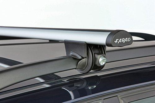 Farad 90241SIME3130/R231 - Barre PORTATUTTO da Tetto per Auto in Alluminio per Veicoli con Railing O MANCORRENTI