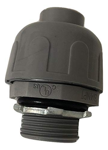 Non-Metallic Liquid Tight Push On Connector Fittings (Straight, 1-1/4 In. Diameter (5-pack))