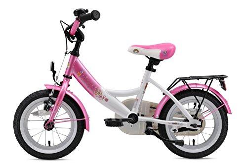 BIKESTAR Premium Sicherheits Kinderfahrrad 12 Zoll für Mädchen ab 3-4 Jahre | 12er Kinderrad Classic | Fahrrad für Kinder Pink & Weiß - 2