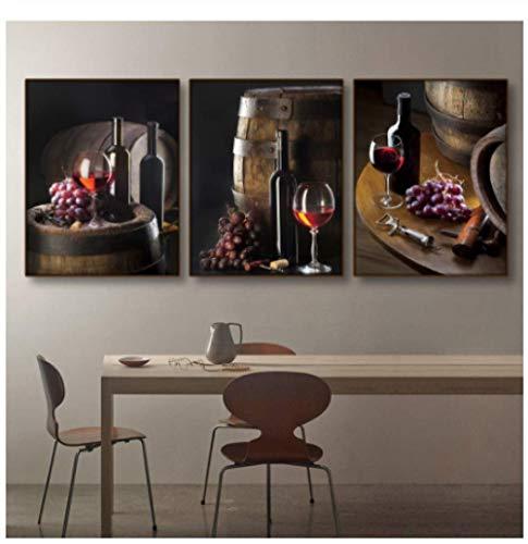 JYSHC Pittura su Tela Cucina Bar Still Life Immagini di Arte della Parete Decorazione della Sala da...