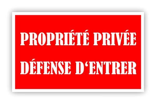 """Panneau d'information - AVERTISSEMENT - """"Propriété privée - Entrée interdite"""" panneau de mousse dure stable - pas d'accès - rouge vif - Attention soyez prudent - Novap Panneau (L)"""