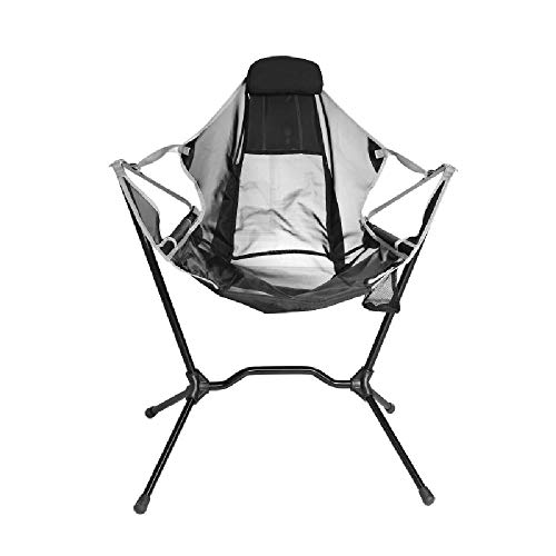 Außen Klappstuhl Ultra-Light Tragbarer Grill Angeln Camping Outdoor-Freizeit Faule Aluminium Rückenlehne Moon Chair,Grey