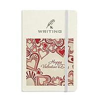 幸せなバレンタインデーかわいい赤の心 ノートブッククラシックジャーナル日記A 5を書く