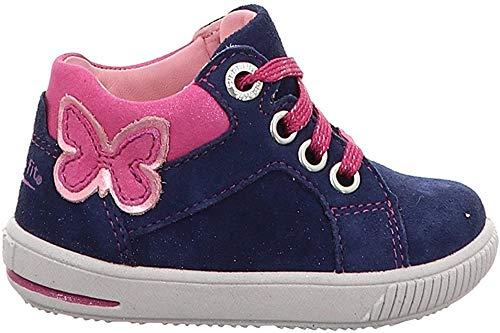 Superfit Baby Mädchen Moppy Lauflern Schuhe, Blau (Blau/Rosa 80 80), 23 EU