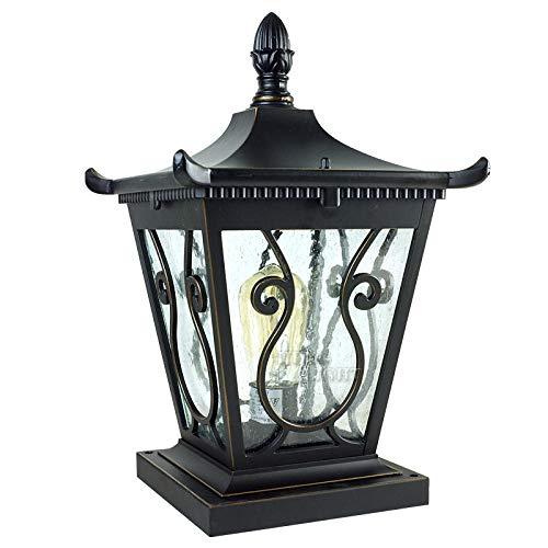 Buitenverlichting padverlichting, buitenwandlampen, schijnwerper, Europese wandlampbalkondeurtuin, binnenplaats, staande lantaarnpaal lamp