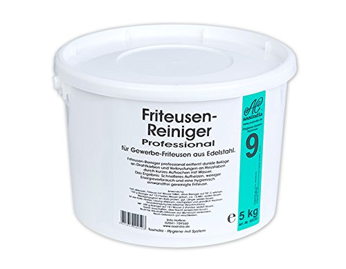 Assindia Friteusen-Reiniger Granulat Fritteusenreiniger Pulver 5kg Eimer Vorratspack