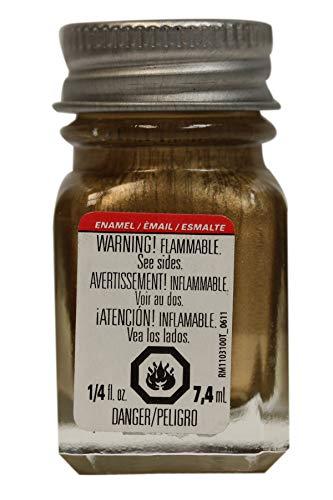 Testors Null 1144TT Enamel Paint, 1/4 oz Glass Bottle, Gold (0.25 Ounce Glass)
