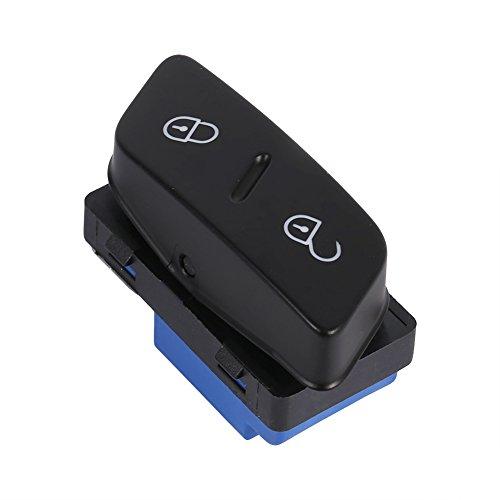 Qiilu Auto Türschlossschalter, Vorne Links Side Auto Türschloss Schalter Zentralverriegelung Taste 1K0 962 125 Für MK5