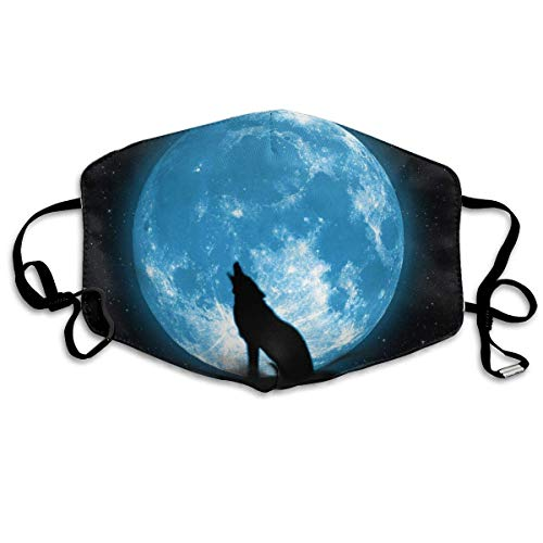 Face Cloths Anti-Dust Mouth Cover Custom Wolf Under The Moonlight Washable and Reusable Cloth Warm Windproof for Women Men Boys Girls Kidscool712