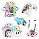 joody 5 pezzi adorabili giocattoli da gioco per criceti, accessori per criceti, gabbia per criceti fai-da-te