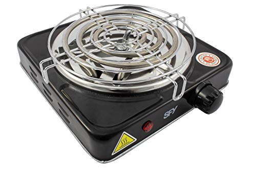 SFY Cocina eléctrica para Shisha cachimba - Hornillo para encender carbón - Placa de Fuego para cocinar - 1000W (HCR02)