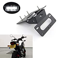 Fitment: for HONDA GROM MSX125 2017 2018 2019 2020 Compatible with Stock Turn Signals Material: 5083-H112 Aluminum Alloy, Light Weight, with 3.0mm Thickness Aluminum Construction and Durable Black Powder Coating All 304 Stainless Steel Hardware Inclu...