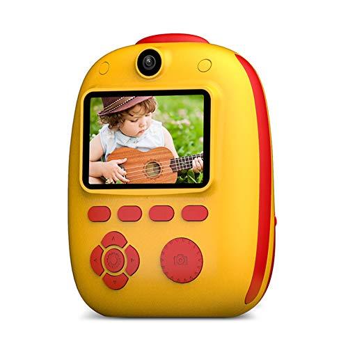 Mini-Digital-Kind-Kamera, Sofortbild-Kamera, Eingebaute Lithium-Batterie/Dual-Kamera-Objektiv, 26MP HD 1920 * 1080P-Auflösung,Gelb