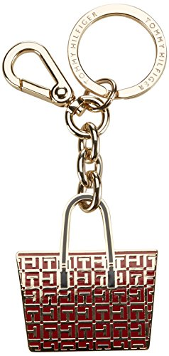 Tommy Hilfiger Damen IRENE LOGO KEYFOB Schlüsselanhänger, Rot (Chili Pepper 638), 12x5x1 cm