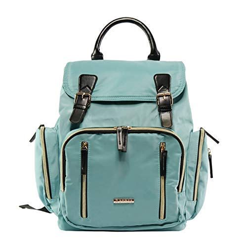 Baby Backpack Diaper Bag with Stroller Straps – Features 16 Pockets Including a Large Main Compartment to Organize Baby Essentials for Travel – Suitable for Boy and Girls – Turquoise Blue