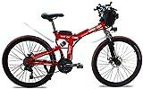 Bicicleta de montaña eléctrica, E-bici plegable de la montaña eléctrica, ligero plegable E-bici, 500W Motor 7 Velocidad 3 Modo de pantalla LCD de 26' Ruedas bicicleta eléctrica for adultos Ciudad De t