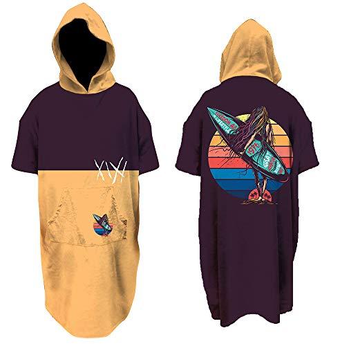 Fratelli Kitesurf Poncho, Surf Poncho, Hooded Towel, Surf Hoodie, Swim Parka, Surf,Kitesurf, Kitesurf Poncho, Printed Beach Poncho,