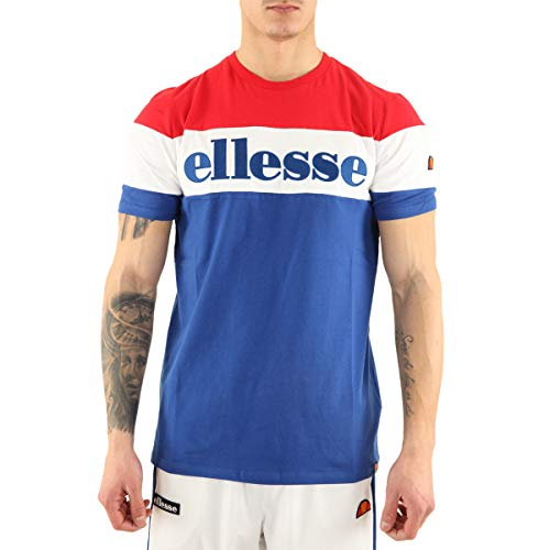 ellesse Herren Punto T-Shirt, blau/rot, L