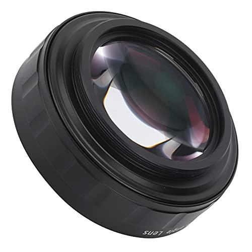 PUSOKEI Lente de cámara, Lente Gran Angular M55 X PO.75, Lente Gran Angular HD de Vidrio óptico, con Cubierta de Lente, para cámaras SLR/sin Espejo / ZV1...