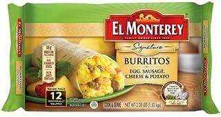 Evaxo Signature Egg, Sausage, Cheese, and Potato Burrito, Authentic Mexican Recipe Frozen Breakfast Burrito, 1 pk. / 12 Count