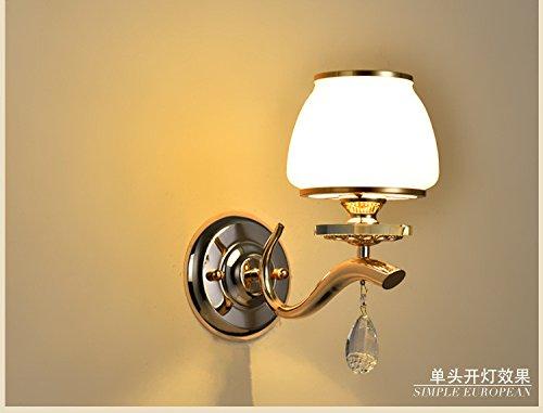 JJZHG wandlamp wandlamp waterdichte wandverlichting woonkamer slaapkamer nacht tv-kast wandlamp persoonlijkheid LED glas kristal wandlamp Single Head gereviseerde wandlamp