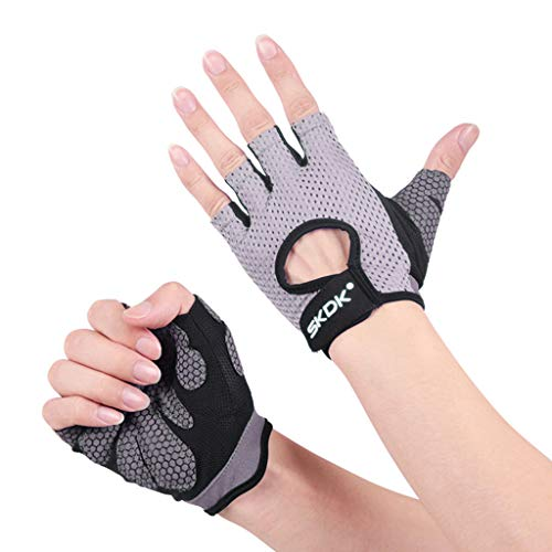 TOTAMALA Unisex Gloves Gym Weightlifting Gloves Full Palm Protection For Pull-up Fitness Weightlift