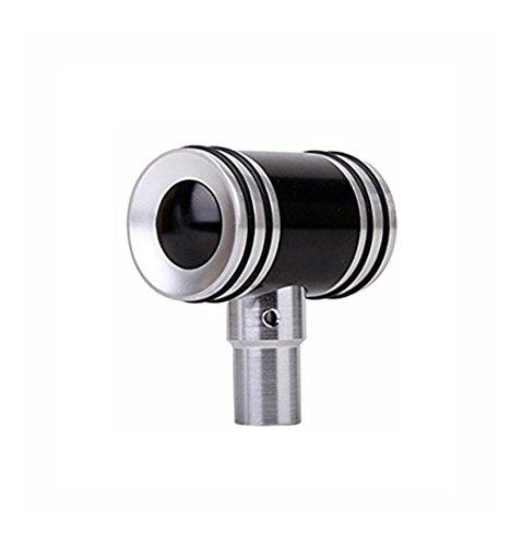 Sport family Universal Aluminium Manuell Auto Schaltknauf Schaltkopf für Manuelles oder automatisches Getriebe Ohne Sperrknopf(schwarz)