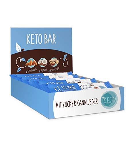 Keto Bar 15-er Box, Keto Riegel (NEUE REZEPTUR), lower carb, low sugar und vegan