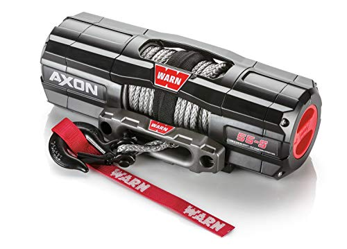 WARN 101150 AXON 55-S Powersports Winch with Spydura Synthetic Cable Rope: 1/4