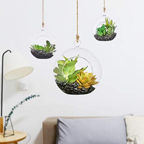 KnikGlass Kugelkerzen zum Aufhängen, 80 mm, Kreative Haus Hängende Glasball Teelichthalter Glaskugeln Romantische Hochzeitsfeier Hauptdekoration(24 Pcs/Set)