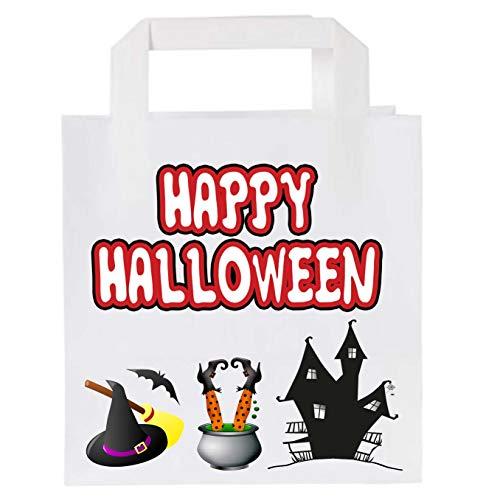 Bolsas de papel para fiesta de Halloween (10 unidades), diseo de bruja