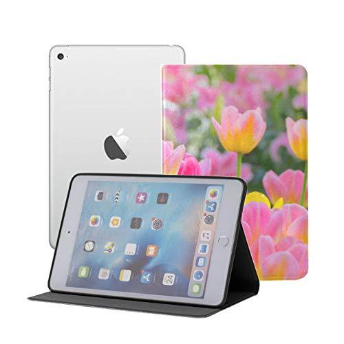 LIANGWE Funda para iPad Mini Hermoso Ramo de Tulipanes Funda para iPad iPad Mini iPad Mini 1/2/3 Reposo/Despertador automático con visualización de múltiples ángulos para iPad Mini 3 / M