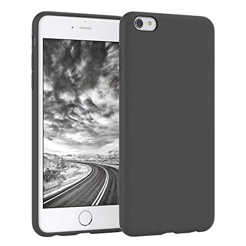 EAZY CASE Premium Silikon Handyhülle kompatibel mit Apple iPhone 6 / 6S, Slimcover mit Kameraschutz & Innenfutter, Silikonhülle, Schutzhülle, Bumper, Handy Case, Hülle, Softcase, Anthrazit