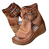 Womens Platforms Wedges Shoes Summer High-top Wedge Sandals Thick-soled Fish Mouth Roman Sandals